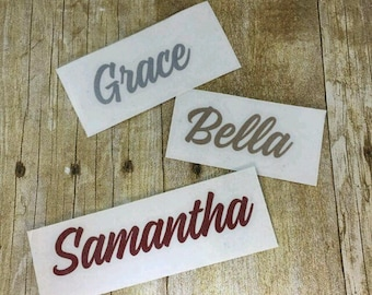 Glitter Name decal, Car decal, Sticker, Car sticker, Name sticker, Vinyl decal, Personalized, Yeti decal, Gift, laptop decal, tumbler decal
