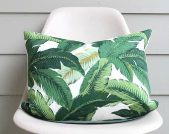 """16"""" x 20"""" Banana Leaf Pillow Cover - Tommy Bahama Fabric - COVER ONLY"""