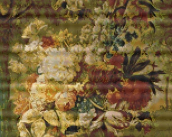 Floral Cross Stitch Kit, Flowers Cross Stitch, Joseph Nigg, Embroidery Kit, Art Cross Stitch