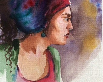 woman with foulard