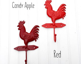 Rooster Apron Hook - Rooster Decor - Rooster Kitchen Decor - Chicken Decor - Kitchen Wall Decor - Country Decor