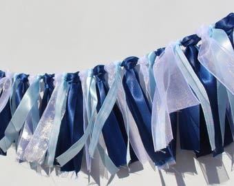 It's A Boy Monochromatic Ribbon Garland Banner