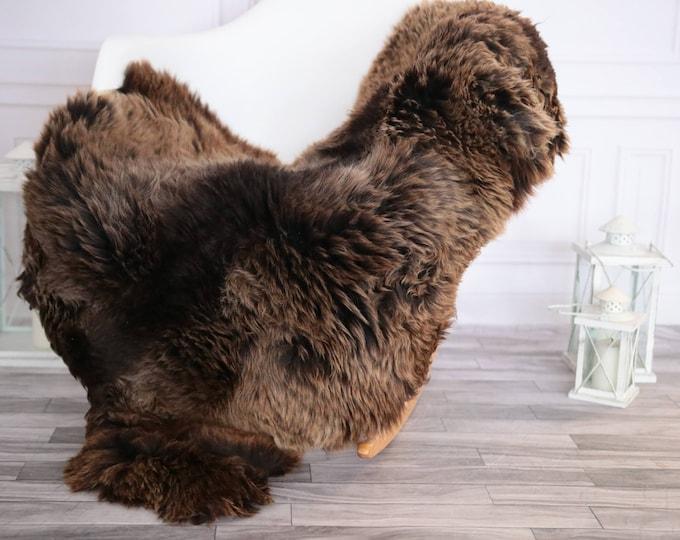Sheepskin Rug | Real Sheepskin Rug | Shaggy Rug | Chair Cover | Sheepskin Throw | Brown Sheepskin | CHRISTMAS DECOR | #DECHER7