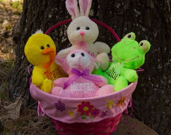 Easter Plush Animals, Personalized Gifts, Easter Basket Addition