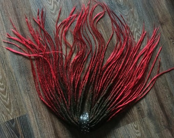 Passion synthetic Dreads x10 or FULL SET black red ombre
