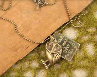 Labyrinth Inspired No Power Over Me Owl Necklace