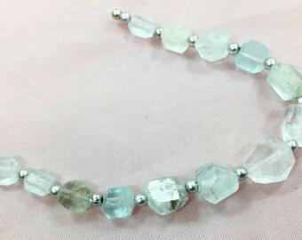 1 Strand Aquamarine Beaded Necklace @AB04