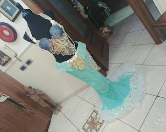 Princess Ariel, Disney Mermaid Cosplay: Bra and Tales skirt.