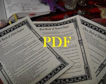 Liber Qayin BOS Sheets PDF specialty pack -- 3 sheets -- Book of Shadows pages (Cain, Tubal Cain)