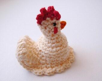 Crochet Egg Warmer PDF Pattern DYI Hen Chicken Pattern Easter Decor Egg Cozy