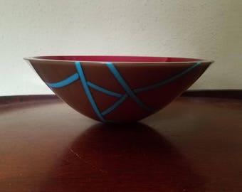 Fused Art Glass Bowl by Gertie Zeiter, Gertie Zeiter Art Glass, Gertie Zeiter Artist, Original Art