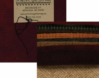 Wool Charm Pack, Hand Dyed Wool - Primitive Gatherings - 5-Inch Squares, 10-Pack - Choose Color Pack