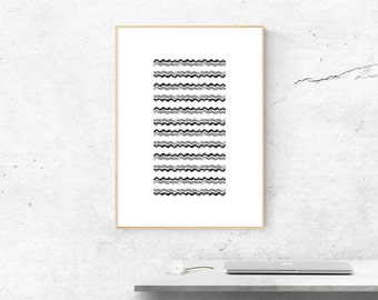 Black White Scandinavian Printable Art, Modernist Abstract Art Prints, Living Room Printable, Modern Art Designs, Minimalistic Abstract Art