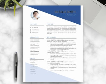 Resume Template,1,2,3 Page Resume,CV Template For Word, Professional Resume, Cover Letter Template, Reference Template,INSTANT DOWNLOAD