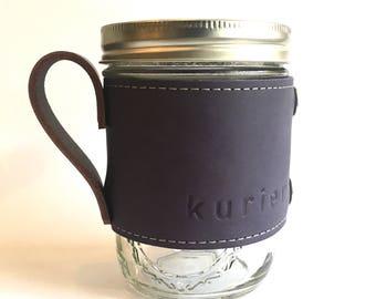 Purple Kurier leather Camp Mug