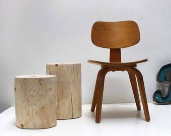 Short Naked Stump Side Table Nightstand Stool (1)