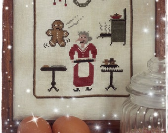 Frank the Gingerbread Man - PDF Cross Stitch Pattern