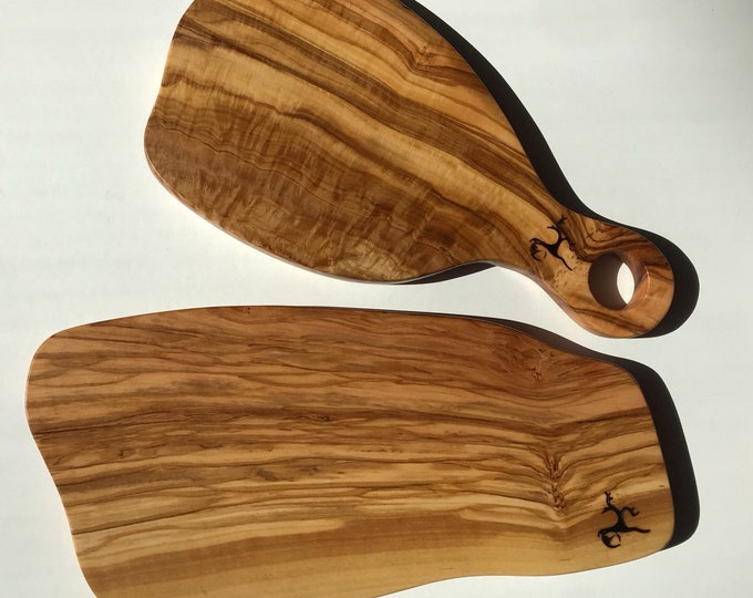 Olivewood Serving board set of two