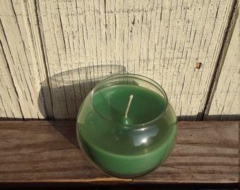 """Teal """"Shower Fresh"""" Globe Candle"""