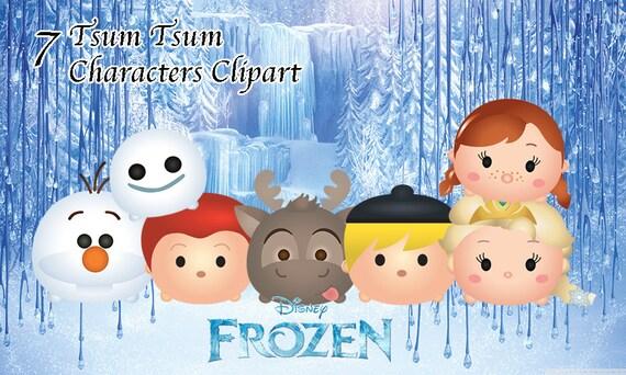 Cómo Dibujar Olaf En La Versión Disney Tsum Tsum: FROZEN Tsum Tsum Characters. 7 High Resolution Clipart. Tsum