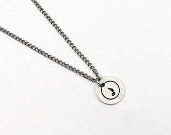 Musical Note Necklace - Simple Pendant - Jewelry for Music Lover or Musician Gift