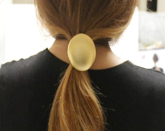 Button Ponytail Holder,Hair Elastic, Hair Tie, Ponytail Holder for Girls and Women,Large Fabric Cover Button