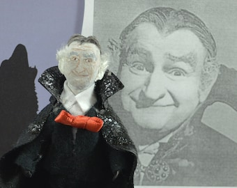 Al Lewis Celebrity Doll Miniature Old Hollywood Television Actor Uneek Doll Designs Art