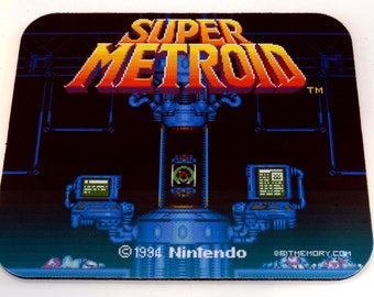 NES Mouse Pad - Super Metroid
