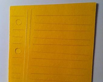 Yellow Notebook Paper Die Cut