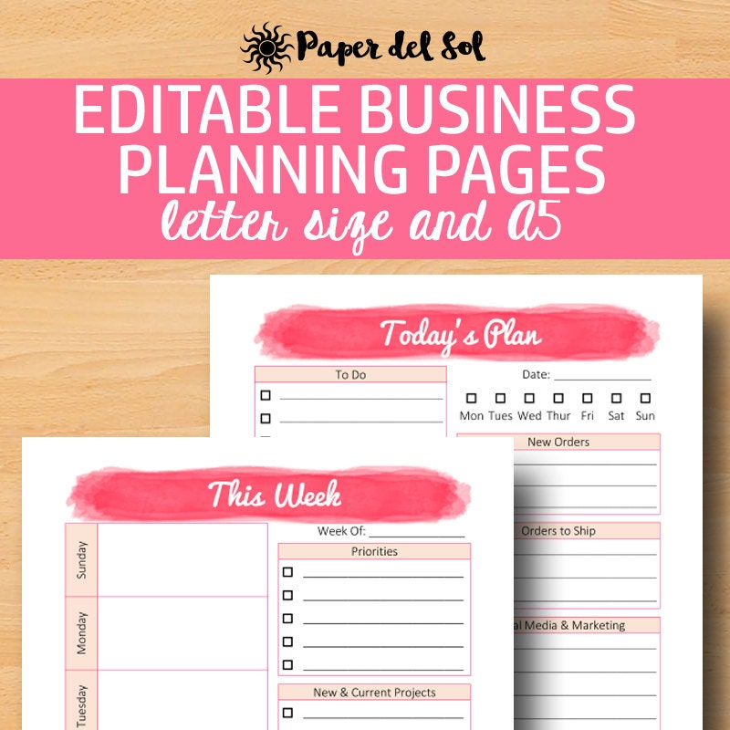 business daily planner
