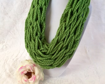 Green Infinity Scarf (Child-Small)