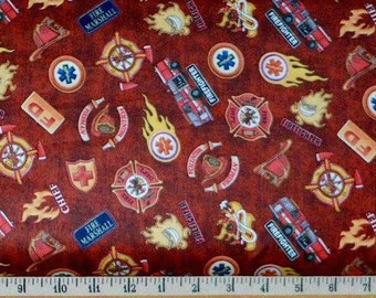 Quilting Treasures. 5 Alarm. Shields Brick. - Choose your cut and fabric