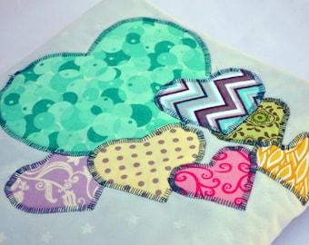 I love grandpa blue star minky baby blanket, quilted toddler blanket, travel blanket, baby blanket with hearts