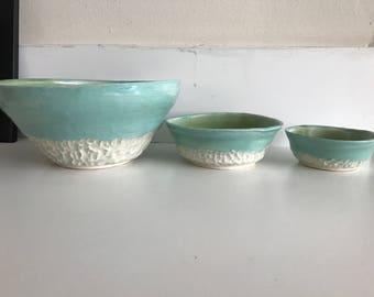 Nesting bowl trio