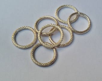 16 x 2 mm silver jump rings