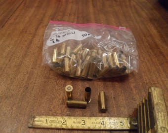 Brass Casings , .38 Special , used , 100 pieces , Reloading or Crafting