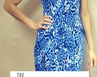 Pam Dress Pattern:  Instant PDF download sewing pattern for women dress