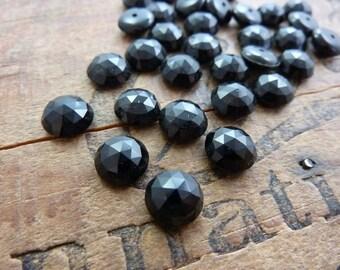 Antique French Georgian Vintage Era Black Mourning Glass 9mm #A3X104 (6)