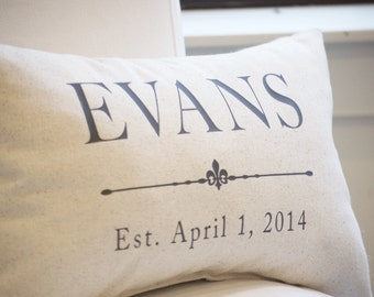 Second Anniversary Gift, Cotton Anniversary Gift, Grain Sack Pillow Cover, 2nd Anniversary, Free Shipping, Farmhouse Pillows