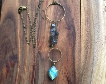 """Labradorite """"Y"""" necklace"""