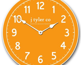 New Traditional Orange Wall Clock