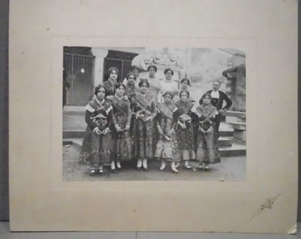 Old photograph , Spanish Regional Costumes