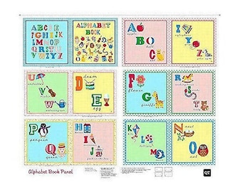 Sew & Go Alphabet Book Panel 36In X 44In Cotton Fabric By Quilting Treasures