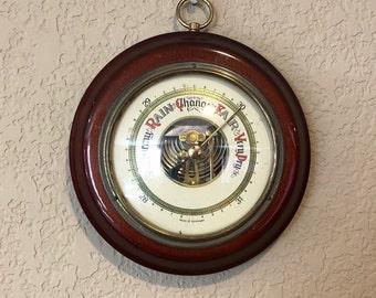 Vintage German Barometer, Barometer Made in Germany, Weather Analysis Equipement