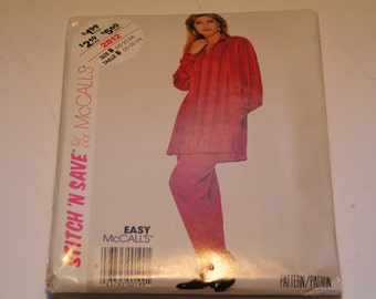 Vintage McCalls Pattern 2812 Easy Miss Shirt Pants