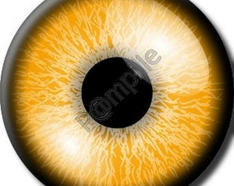 Cabochon resin 25 mm - orange eye (909) stick