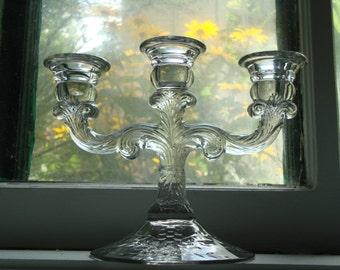 2- Etched Vintage Candleholders