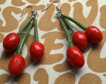 Goji Berry Earrings