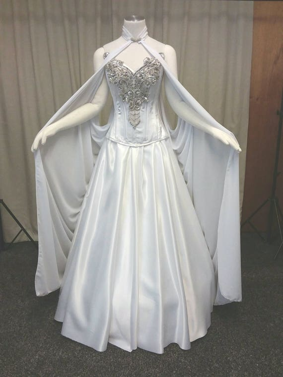 Elven dress fae dress faerie wedding dress handfasting