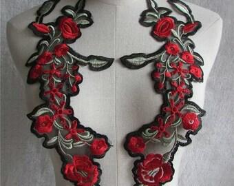 Flower Appliques - Floral Appliques Colorful - Lace Applique,Cuff Decorations ,Shoulders Knots